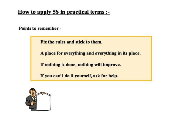 Rules for good 5S