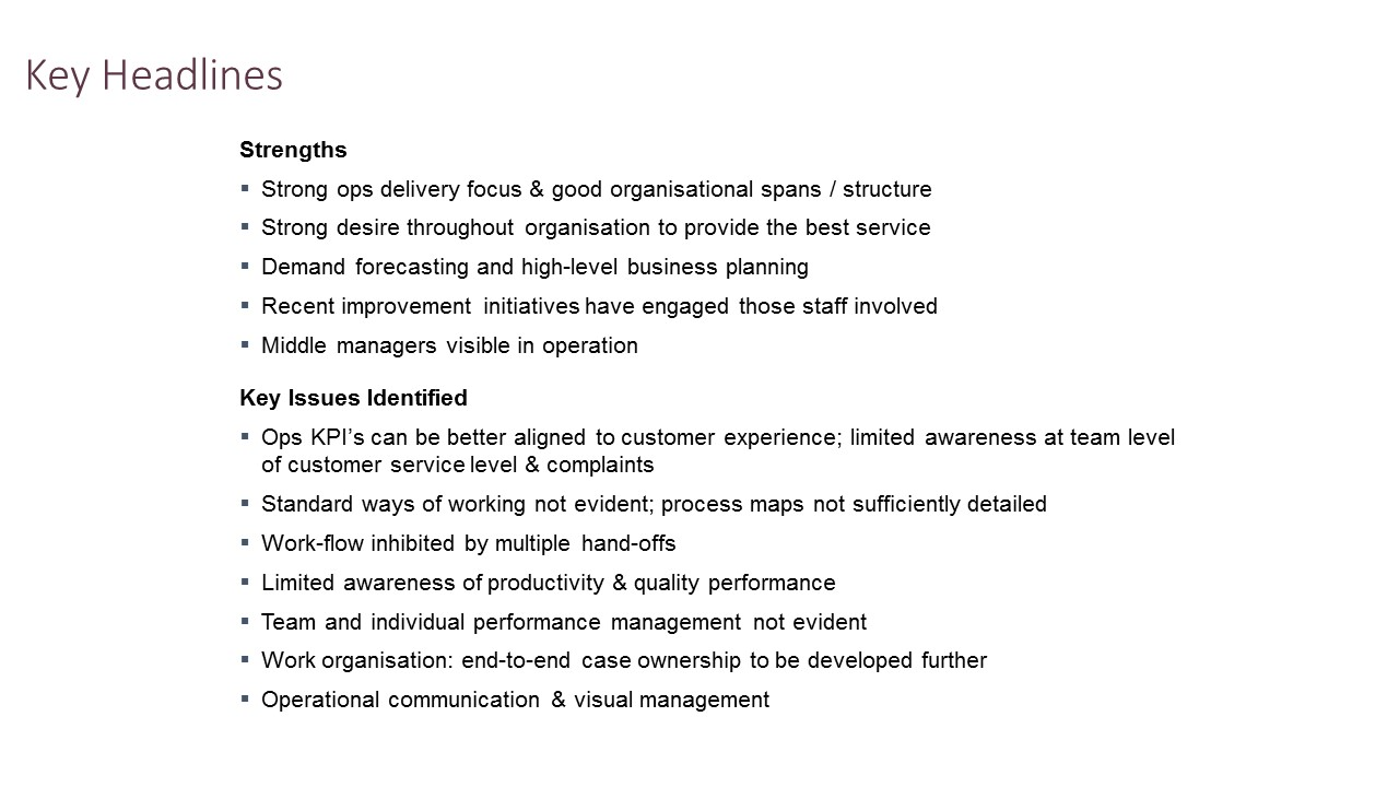 what are the operational issues in business management