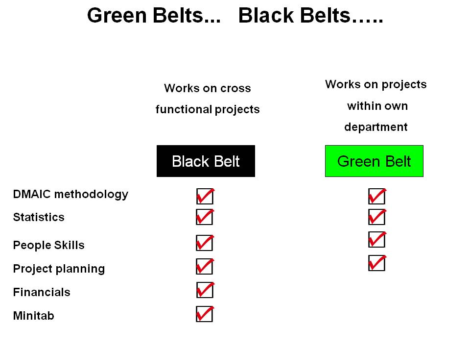 Overview of six sigma belts
