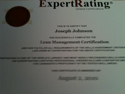 Lean Certification